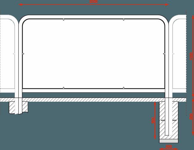 Ekran przeciwbłotny typ poznański tzw. ramka