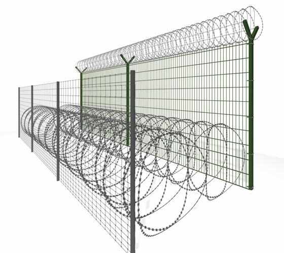 Ogrodzenie graniczne 2m