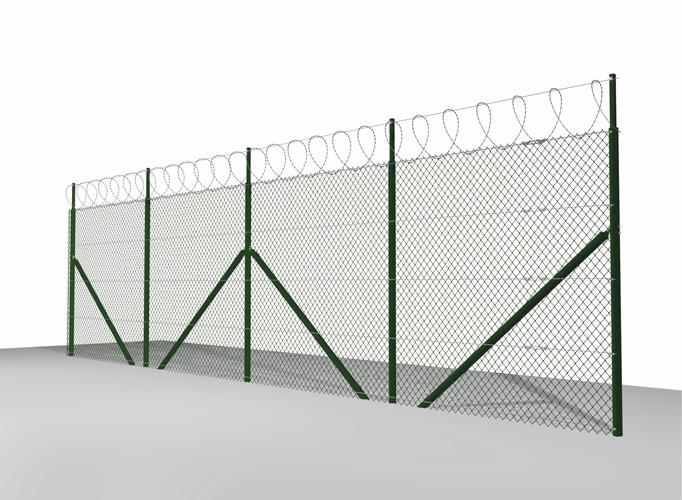 zasieki spiralne ogrodzenie