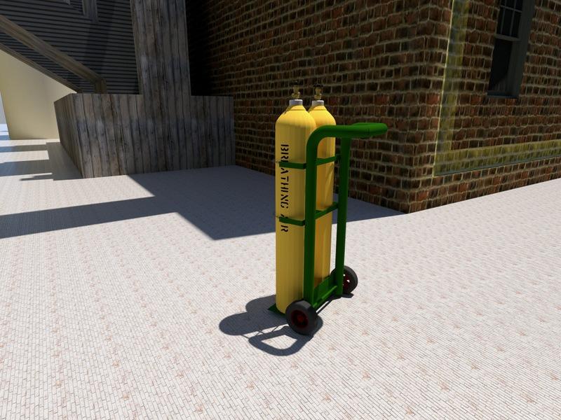wózek do przewozu butli spawalniczych