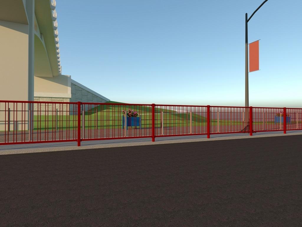 bariera miejska demontowalna