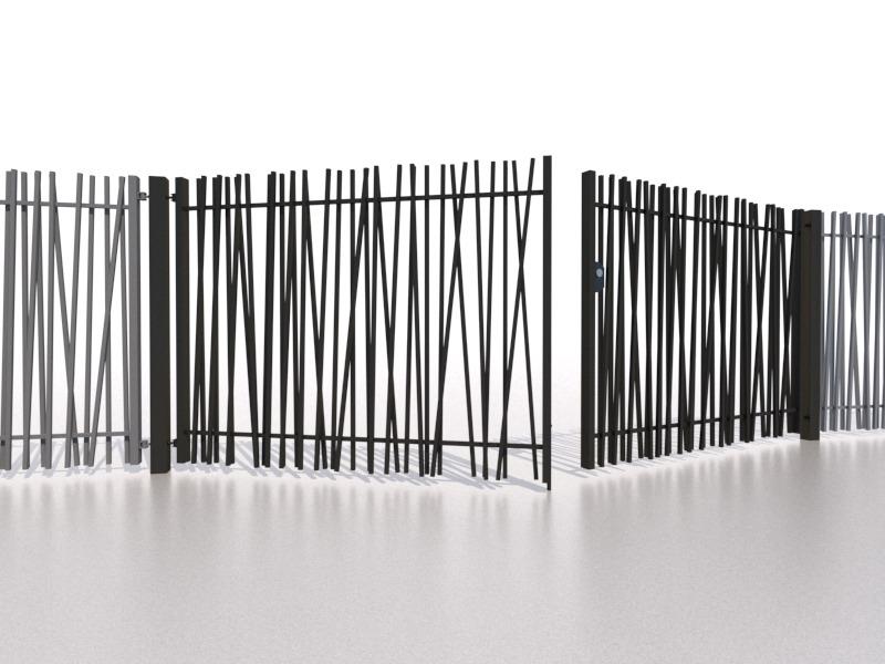Bambusowe brama dwuskrzydłowa
