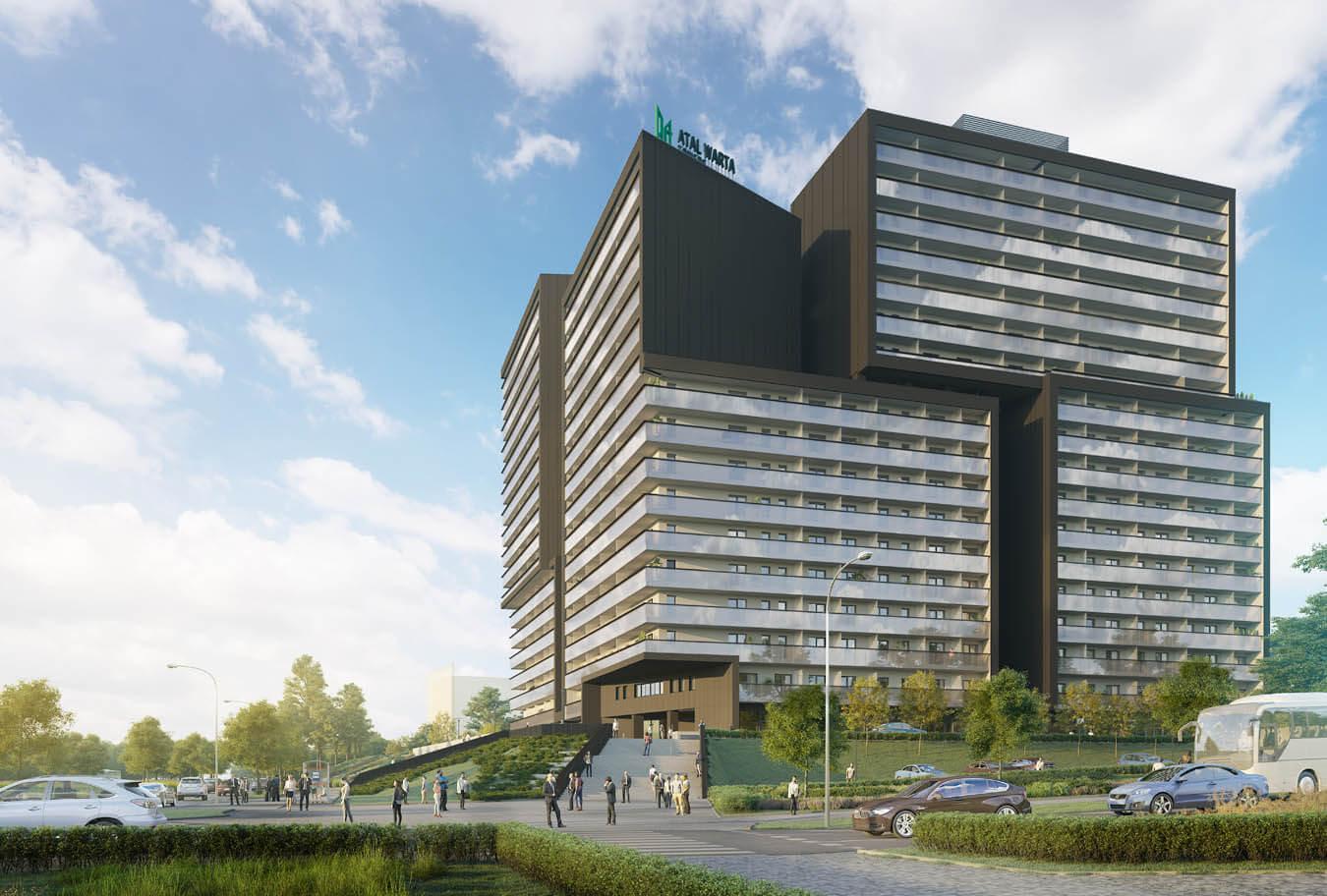Warta Towers kompleksowe wykonanie balustrad szklanych oraz przegród balkonowych w jednym z najwyższych budynków w Poznaniu.