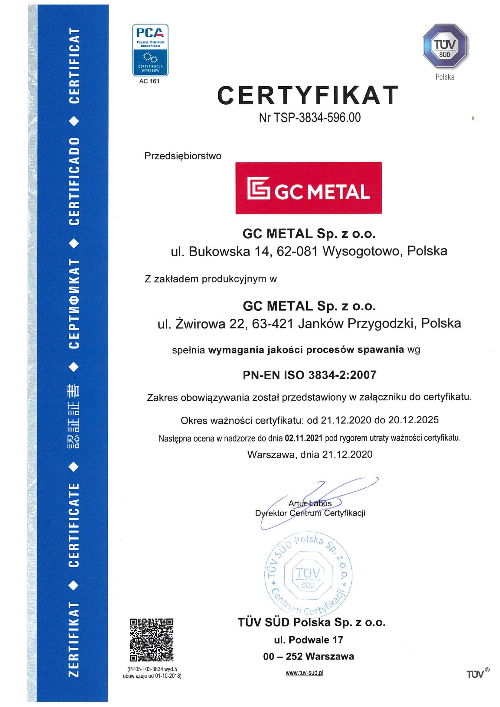 Certyfikat PL