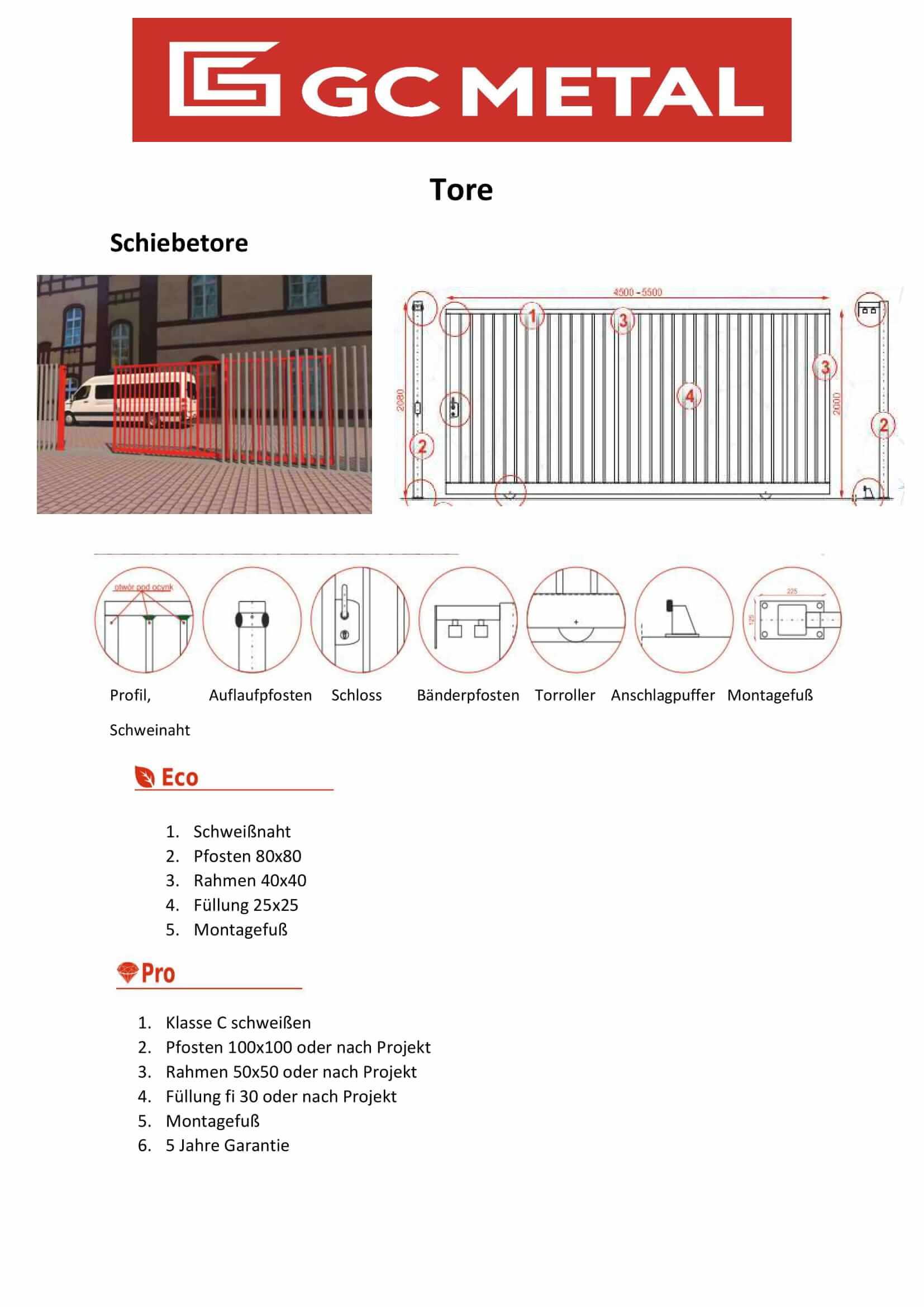 Katalog słupki ogrodzeniowe